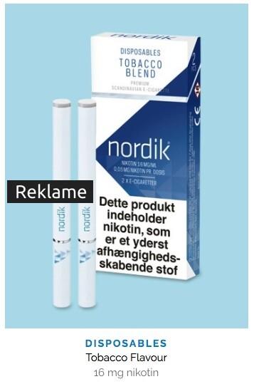 nordik®'s e-cigaretter imiterer almindelige cigaretter, men er ikke lige så skadelige.